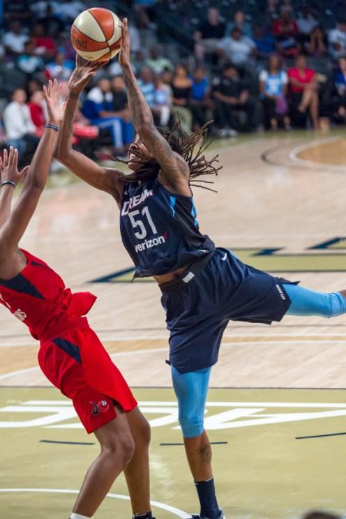WNBA- Atlanta Dream Vs. Washington Mystics at the McCamish Pavillion -USA on Tuesday 28th 2018 Photo by: Jamie Thompson