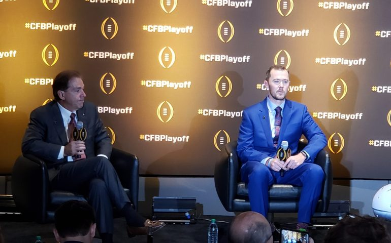 CFP Coaches Nick Saban and Lincoln Riley