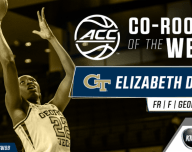 Georgia Tech Yellow Jackets freshman Elizabeth Dixon shared ACC Rookie of the week honors
