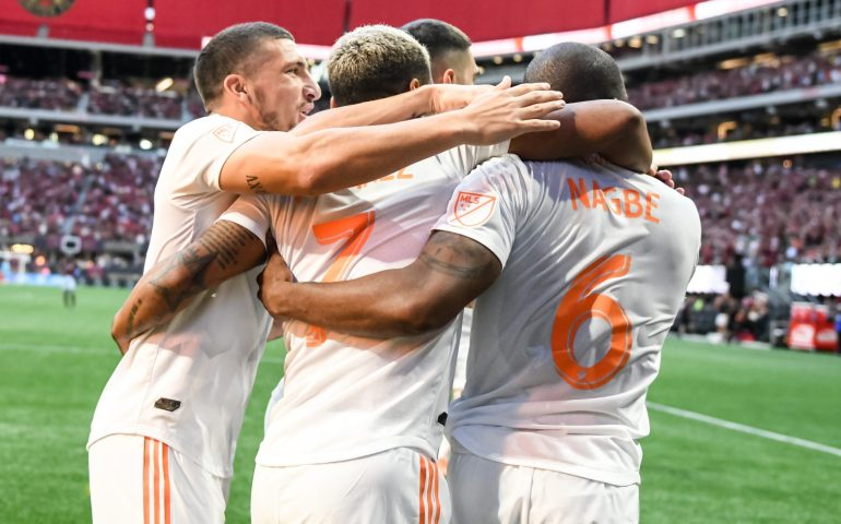 Atlanta United celebrates a goal vs Orlando