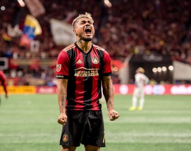 Josef Martinez goes hysterical celebrating a score