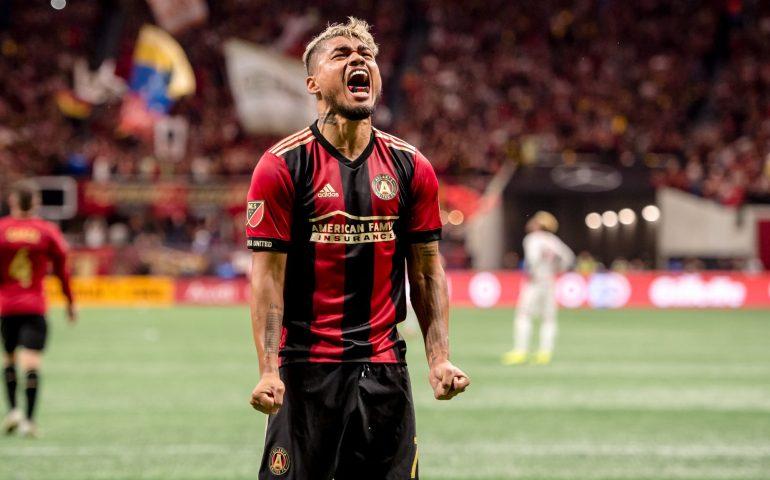 Josef Martinez goes hysterical celebrating a score