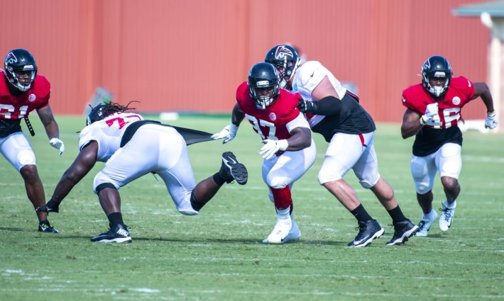 Grady Jarrett dominates James Carpenter at training camp 2019  #NFL, #dirtybirds, #falcons, #inbrotherhood, #atlantafalcons, #ATL, #ASN