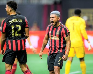 Josef Martinez shows his passion for soccer by celebrating with a scream after scoring a goal #atlutd, #uniteandconquer, #MLS, #soccer,