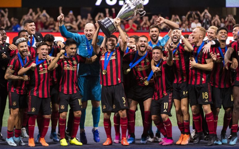 Atlanta United celebrates another trophy, this time its the U.S. Open Cup against Minnesota. The Five Stripes won 2-1