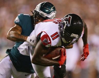 Julio Jones is tackled by the Philadelphia Eagles#NFL, #dirtybirds, #falcons, #inbrotherhood, #atlantafalcons, #ATL, #ASN #nfc, #nfcsouth,