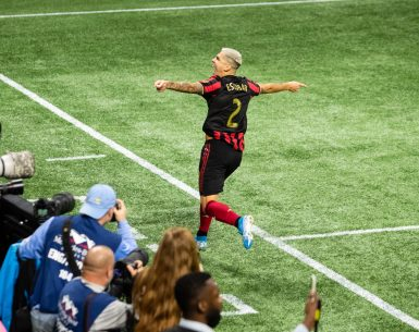 Franco Escobar scored the game winning goal against New england Revolution in the first round of the MLS playoffs