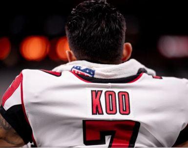 Younghoe Koo started his career 4 of 4 field goals versus the Saints