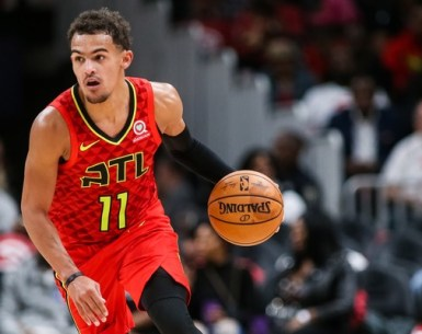 Trae Young of the Atlanta Hawks makes a move during game action versus Orlando Magic#TruetoAtlanta, #AtlantaHawks, #Hawks, #ATL,
