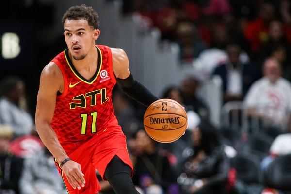 Trae Young of the Atlanta Hawks makes a move during game action versus Orlando Magic#TruetoAtlanta, #AtlantaHawks, #Hawks, #ATL,