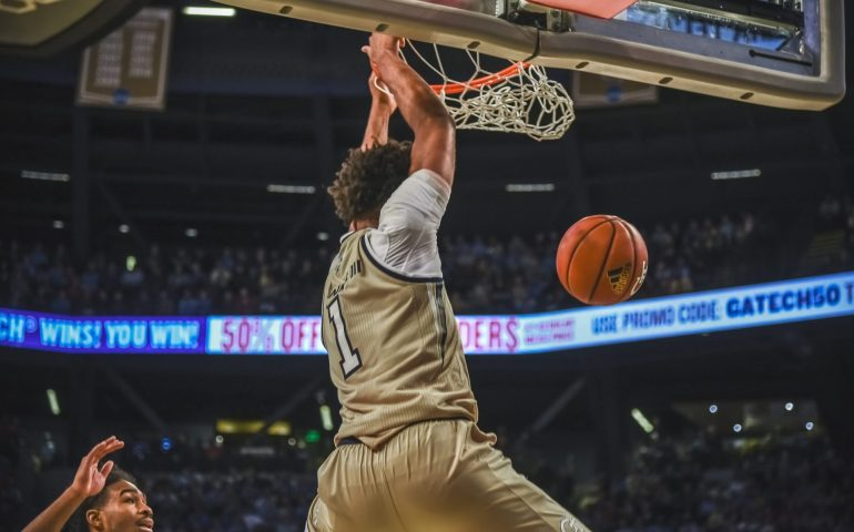 James Banks lll Georgia Tech Slams it through against the Duke Blue Devils
