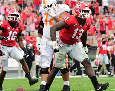 #Dawgs, #bulldogs, Georgia Bulldogs Azzez Ojulari player of the week