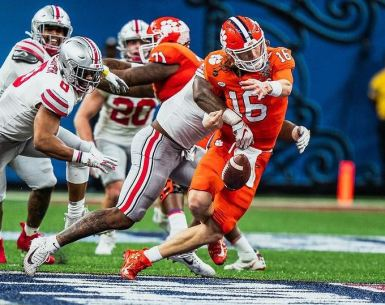 #buckeyes, #ohiostate, All State Sugar Bowl Trevor Lawerence is sacked