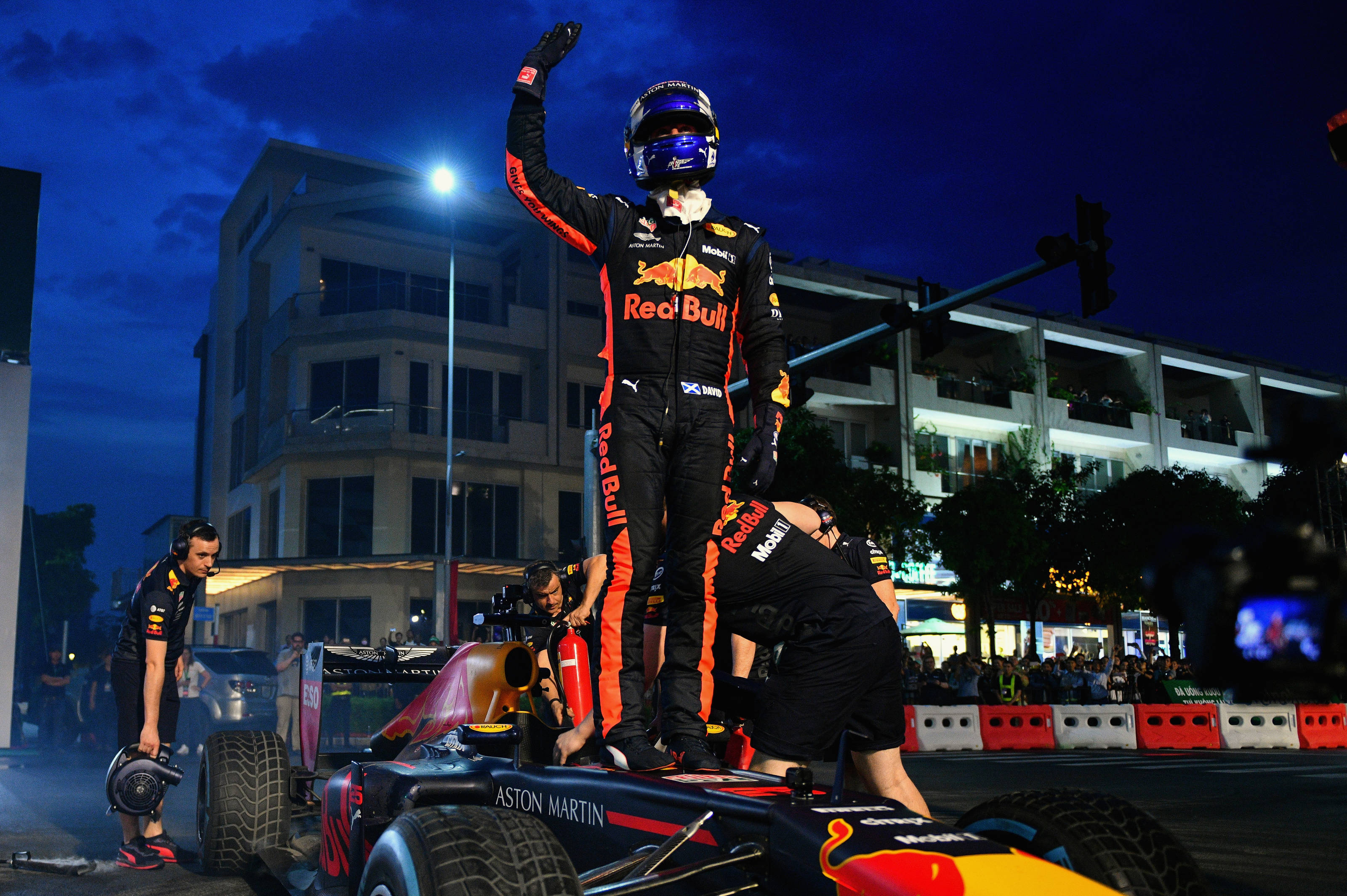 Coulthard And Garrix Star For Aston Martin Red Bull Racing In Vietnam Asc Action Sports Connection