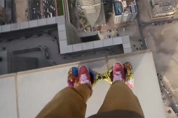 Watch Daredevil Ride Hoverboard on Edge Of Skyscraper