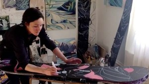 Create Your Own Snowboard Art with Burton's Jessa Gilbert