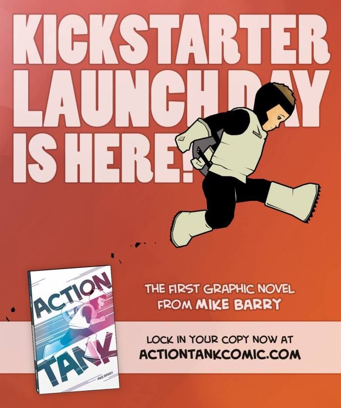 The image I used to launch the Action Tank Kickstarter campaign on social