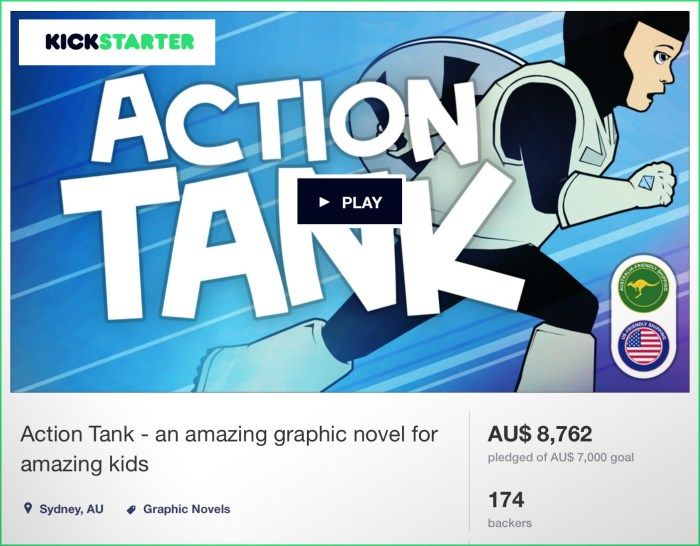 Action Tank smashed it's kickstarter funding goal and became a real comic book!