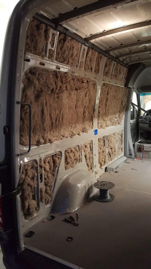 Action Van of Bend Oregon   Wool Insulation in a Sprinter Van