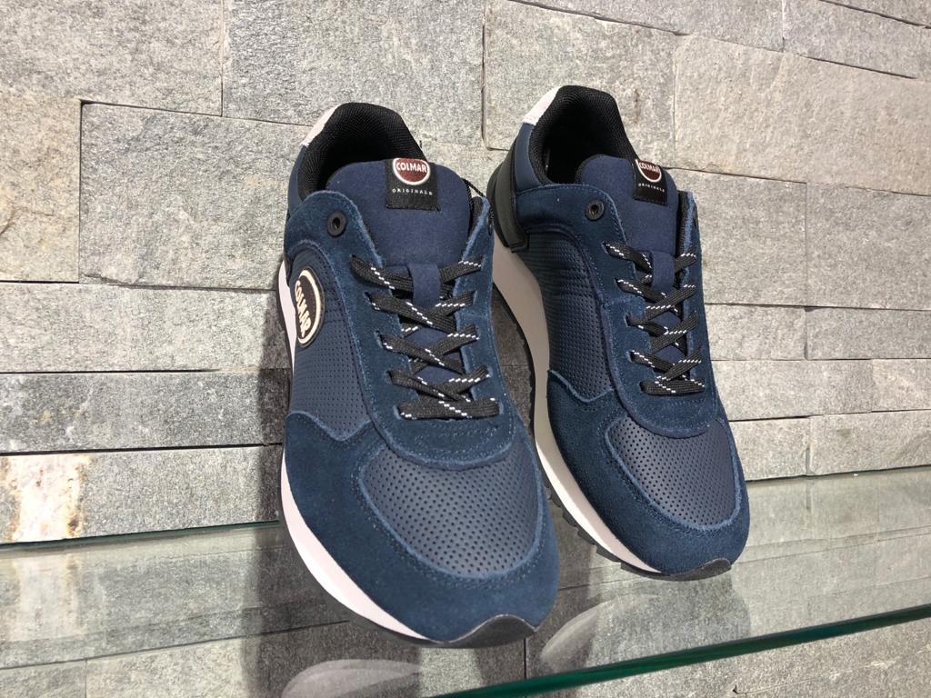 Pantofi Colmar Travis Drill Blue marine 013