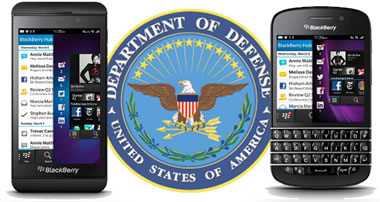 BlackBerry aceptado por Departamento de Defensa US