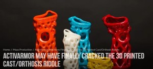 3D Printing Media Network does article on ActivArmor