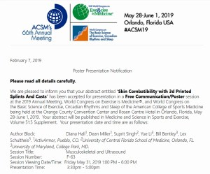 ActivArmor Chosen to Present Another Research Abstract at ACSM Annual Meeting 2019