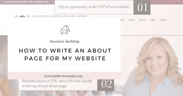 How to Write An About Page for My Website  ActivateHerAwesome.com
