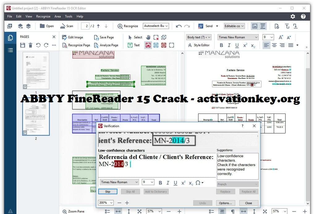 ABBYY FineReader 15.0.18 Crack + Torrent Full Version