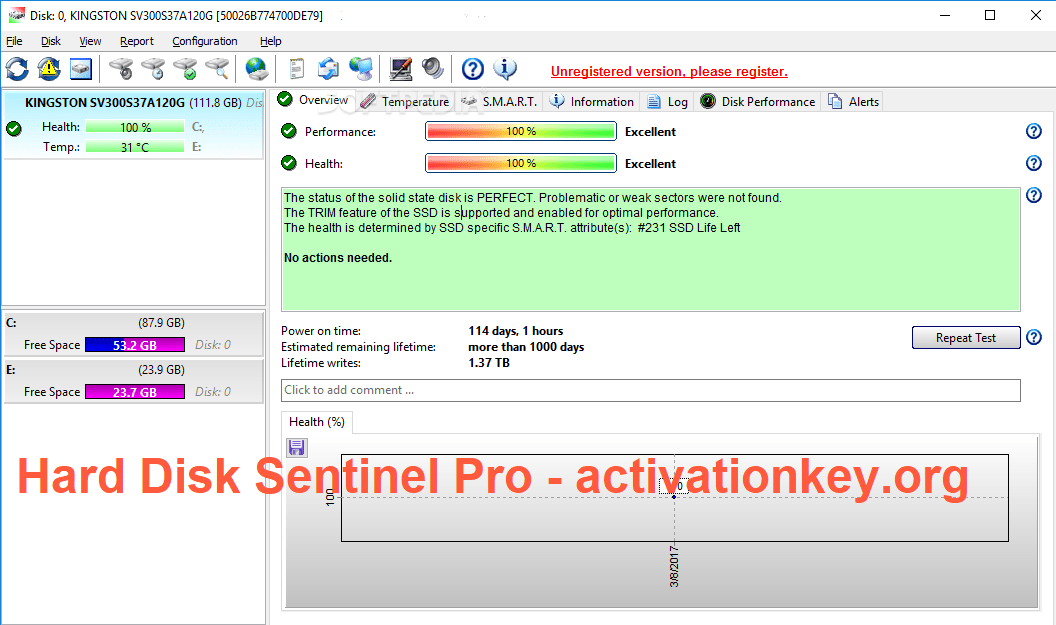 Hard Disk Sentinel Pro Crack 5.50.10 With Keygen [Windows + MAC]