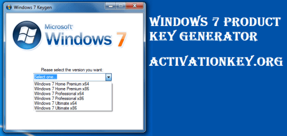 Windows 7 Product Key Generator 32bit/64bit 100% Working