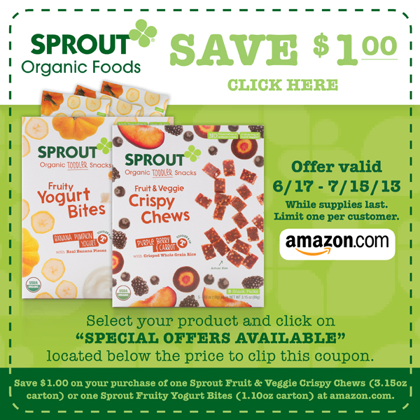 sprout, organic, baby food, natural, toddler snacks, vegetables, fruit, toddler snacks coupon <br>, toddler food, meals, snacks, yogurt bites, on the go, all natural