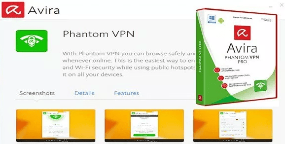 avira phantom vpn android