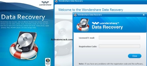 wondershare data recovery crack licensed email and registration code
