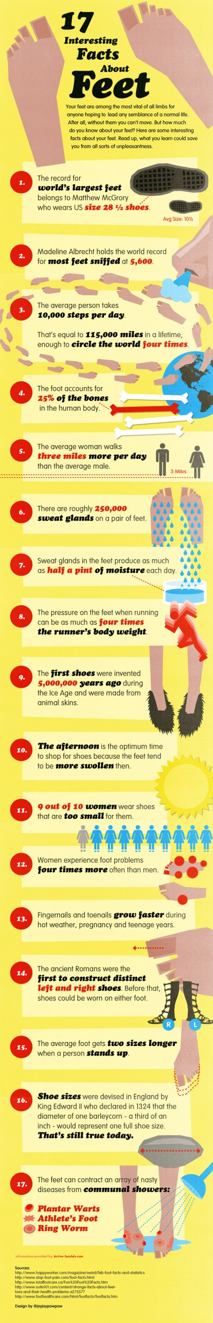 Facts about your Feet