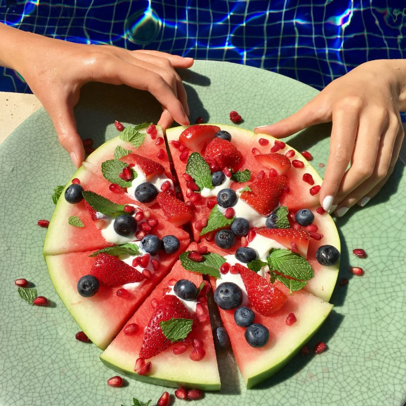 How to make the perfect poolside watermelon pizza