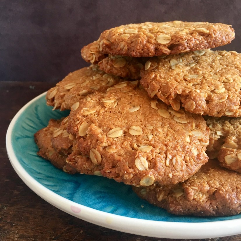 How do I make moorish but healthy Anzac biscuits?