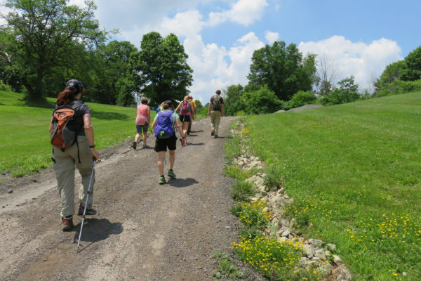 venture outdoors instructors lead a spring hike in pittsburgh pennsylvania