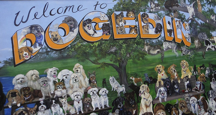 Dog Mural in Dunedin Florida