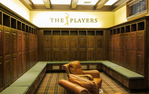 The Players locker room at TPC Sawgrass