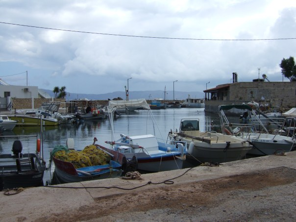 Explore Kissamos fishing port in active Crete walking painting yoga holidays