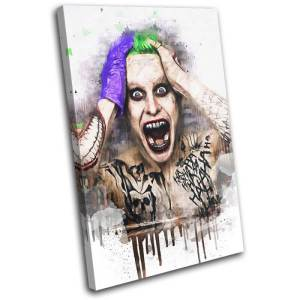 Abstract Suicide Squad Joker Canvas