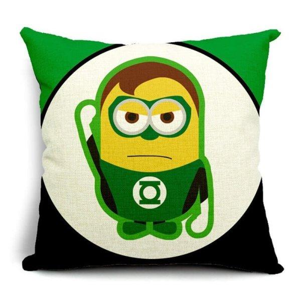Green Lantern Minions Superhero Pillow Cases