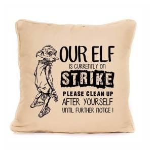 Harry Potter Elf On Strike Pillow