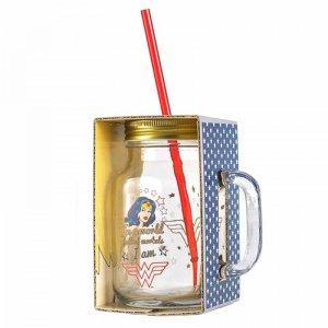 Wonder Woman Mason Glass Jar 2