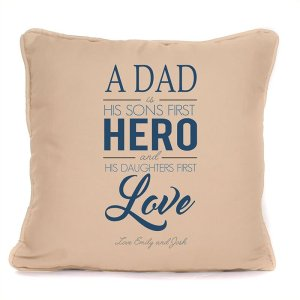 Sons First Hero & Daughters First Love Cushion