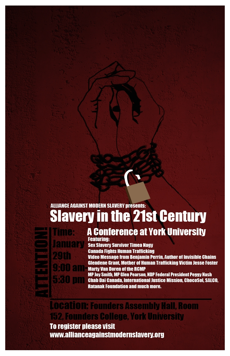 Alliance Against Modern Slavery Conference Poster Active History