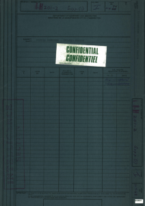 The Immigration Intelligence file on The Farm. Credit: Library and Archives Canada.