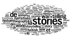 CHA 2010: Montreal Keywords: Stories, Telling, War, World, British