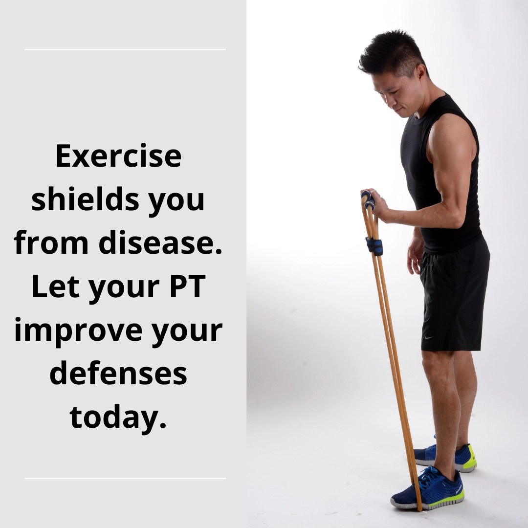 Exercise shields from disease